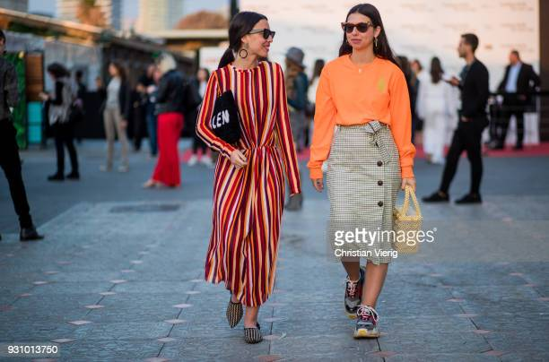 Guests seen during Tel Aviv Fashion Week on March 12, 2018 in Tel Aviv, Israel.