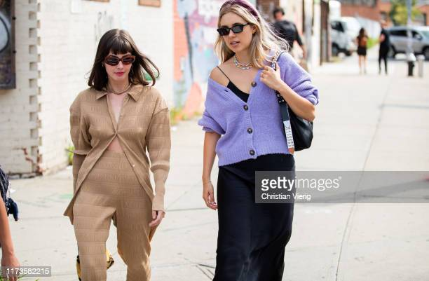 Guests seen outside 3.1 Phillip Lim during New York Fashion Week September 2019 on September 09, 2019 in New York City.