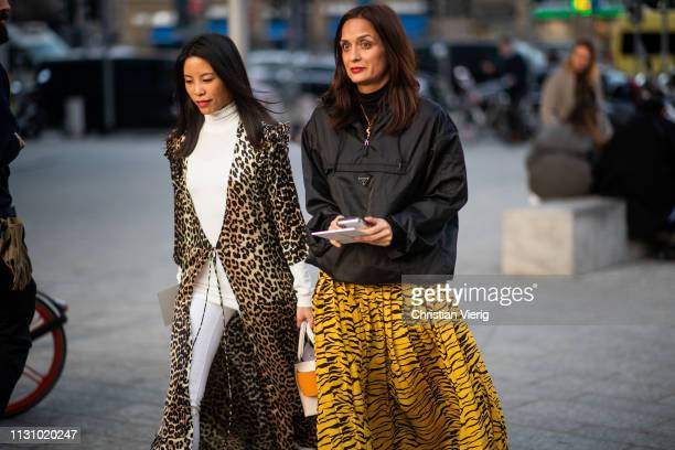 Guests seen outside Alberta Ferretti on Day 1 Milan Fashion Week Autumn/Winter 2019/20 on February 20 2019 in Milan Italy