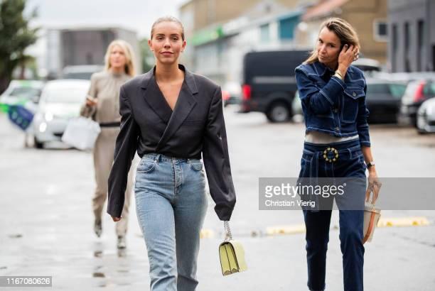 Guests seen outside Baum und Pferdgarten during Copenhagen Fashion Week Spring/Summer 2020 on August 08, 2019 in Copenhagen, Denmark.