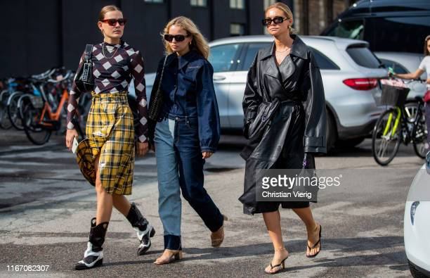 Guests seen outside Baum und Pferdgarten during Copenhagen Fashion Week Spring/Summer 2020 on August 08, 2019 in Copenhagen, Denmark.