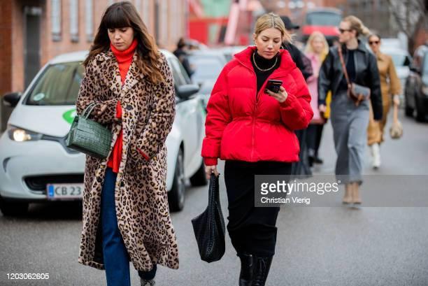 Guests seen outside By Malene Birger during Copenhagen Fashion Week Autumn/Winter 2020 Day 3 on January 30 2020 in Copenhagen Denmark