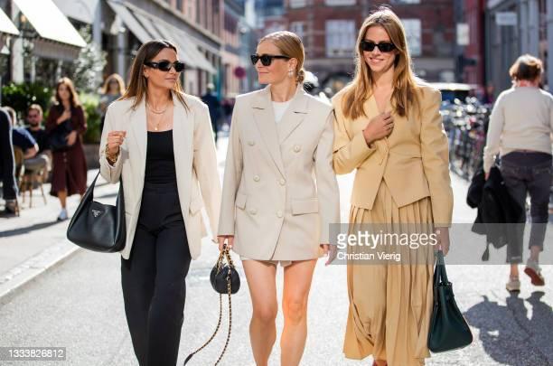Guests seen outside By Malene Birger on August 11, 2021 in Copenhagen, Denmark.