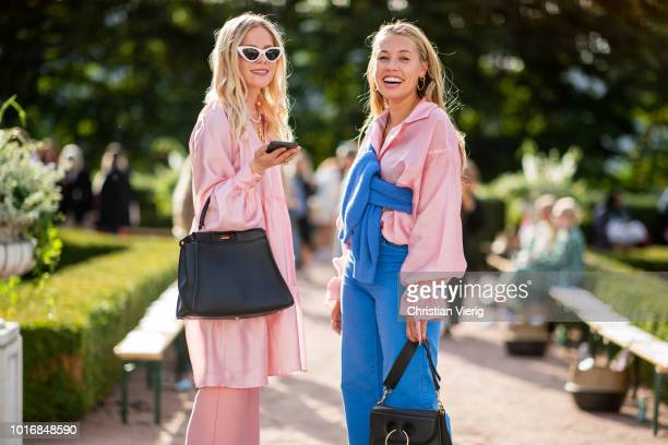 Guests seen outside byTiMo during Oslo Runway SS19 on August 14 2018 in Oslo Norway