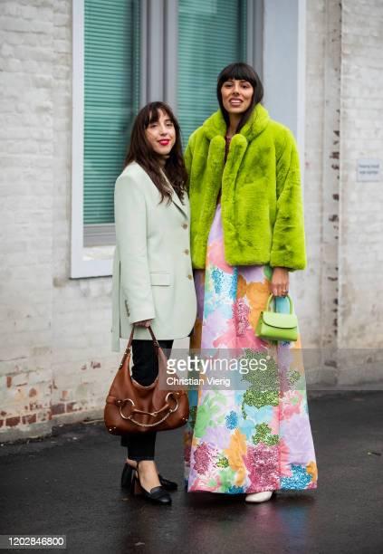 Guests seen outside Cecilie Bahnsen during Copenhagen Fashion Week Autumn/Winter 2020 Day 2 on January 29, 2020 in Copenhagen, Denmark.