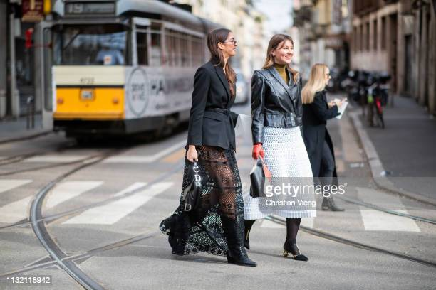 Guests seen outside Dolce Gabbana on Day 5 Milan Fashion Week Autumn/Winter 2019/20 on February 24 2019 in Milan Italy