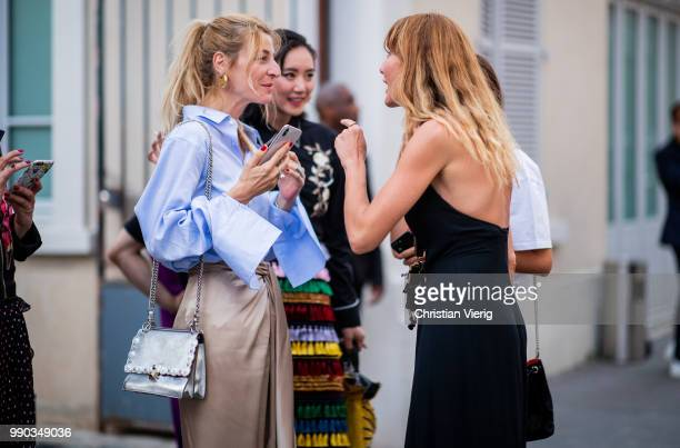 Guests seen outside Dundas on day two during Paris Fashion Week Haute Couture FW18 on July 2 2018 in Paris France