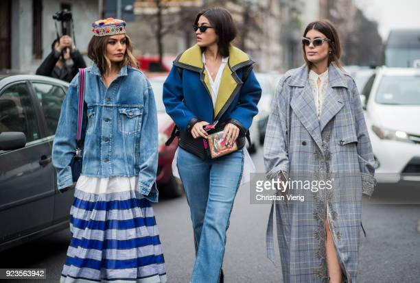 Guests seen outside Etro during Milan Fashion Week Fall/Winter 2018/19 on February 23 2018 in Milan Italy