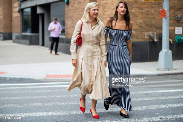 Guests seen outside Gabriela Hearst during New York Fashion Week September 2019 on September 10 2019 in New York City
