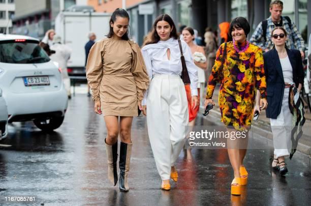 Guests seen outside Ganni during Copenhagen Fashion Week Spring/Summer 2020 on August 08 2019 in Copenhagen Denmark