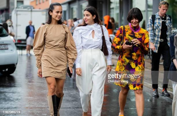 Guests seen outside Ganni during Copenhagen Fashion Week Spring/Summer 2020 on August 08, 2019 in Copenhagen, Denmark.
