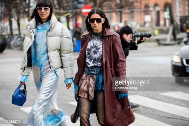 Guests seen outside Helmstedt during Copenhagen Fashion Week Autumn/Winter 2020 Day 2 on January 29, 2020 in Copenhagen, Denmark.
