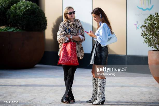 Guests seen outside House of Holland during London Fashion Week September 2019 on September 14 2019 in London England
