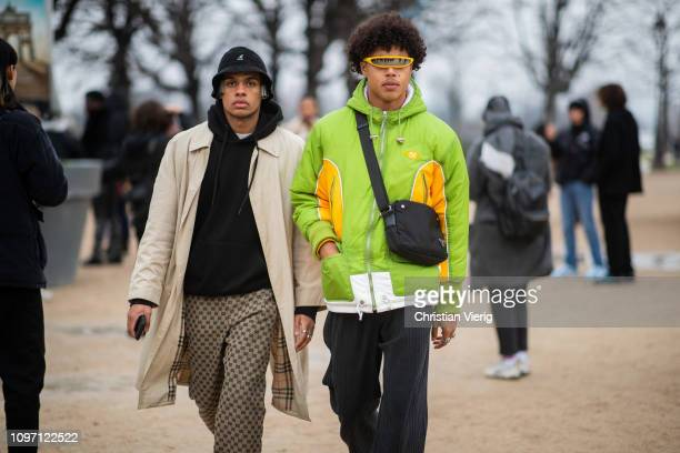 Guests seen outside Kenzo during Paris Fashion Week Menswear F/W 20192020 Day Six on January 20 2019 in Paris France