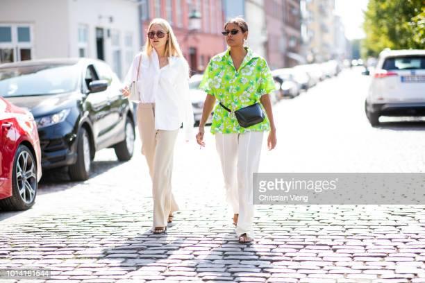 Guests seen outside Lovechild 1979 during the Copenhagen Fashion Week Spring/Summer 2019 on August 9 2018 in Copenhagen Denmark