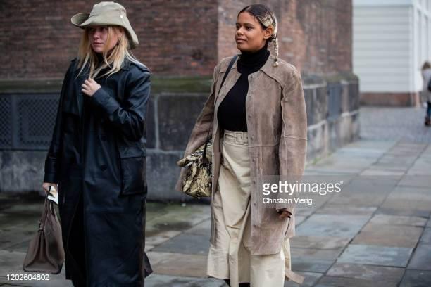 Guests seen outside Lovechild on Day 1 during Copenhagen Fashion Week Autumn/Winter 2020 on January 28 2020 in Copenhagen Denmark