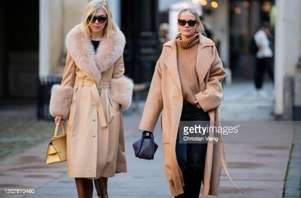 Guests seen outside Mfpen during Copenhagen Fashion Week Autumn/Winter 2020 Day 2 on January 29, 2020 in Copenhagen, Denmark.