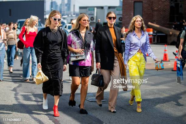Guests seen outside Michael Kors during New York Fashion Week September 2019 on September 11 2019 in New York City