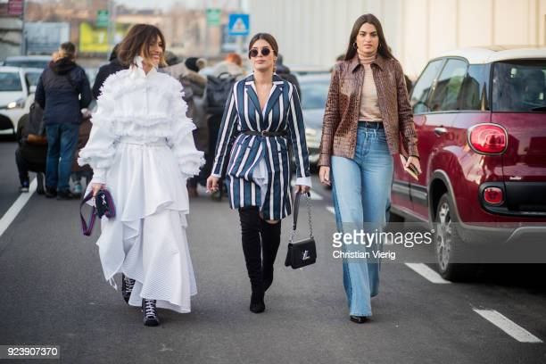 Guests seen outside Missoni during Milan Fashion Week Fall/Winter 2018/19 on February 24 2018 in Milan Italy