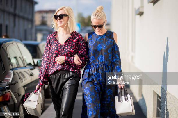 Guests seen outside Missoni during Milan Fashion Week Spring/Summer 2018 on September 23 2017 in Milan Italy
