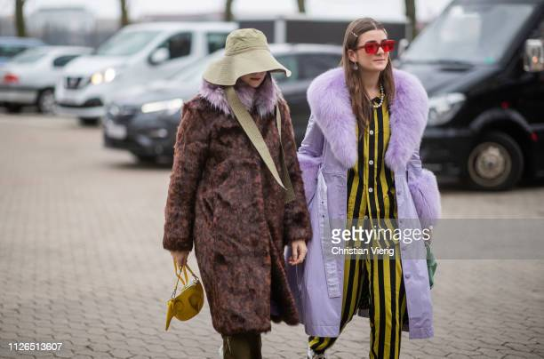 Guests seen outside Munthe during the Copenhagen Fashion Week Autumn/Winter 2019 Day 3 on January 31 2019 in Copenhagen Denmark