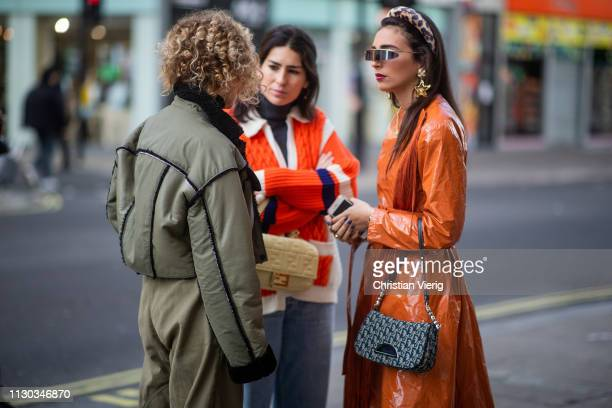 Guests seen outside Natasha Zinko during London Fashion Week February 2019 on February 17 2019 in London England