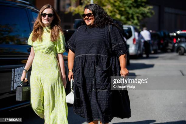 Guests seen outside Preen during London Fashion Week September 2019 on September 15 2019 in London England