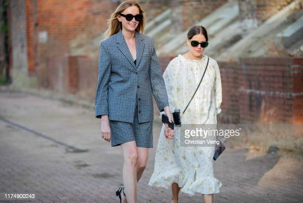 Guests seen outside Rocha during London Fashion Week September 2019 on September 15, 2019 in London, England.