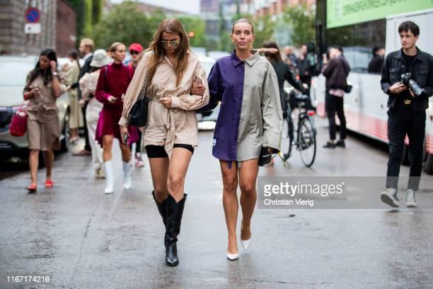 Guests seen outside Saks Potts during Copenhagen Fashion Week Spring/Summer 2020 on August 08 2019 in Copenhagen Denmark