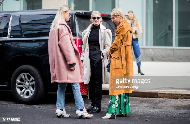 Guests seen outside SelfPortrait on February 10 2018 in New York City