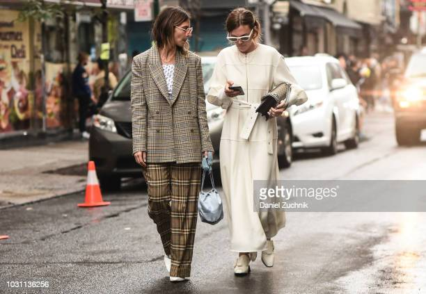 Guests seen outside the 31 Phillip Lim show during New York Fashion Week Women's S/S 2019 on September 10 2018 in New York City