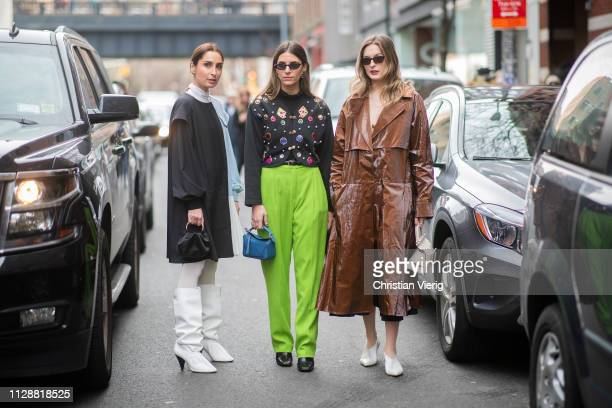 Guests seen outside Tibi during New York Fashion Week Autumn Winter 2019 on February 10 2019 in New York City