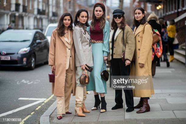 Guests seen outside Toga during London Fashion Week February 2019 on February 16 2019 in London England