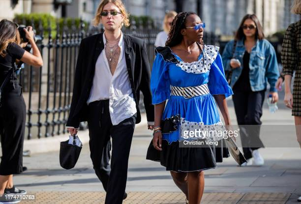Guests seen outside Toga during London Fashion Week September 2019 on September 14 2019 in London England