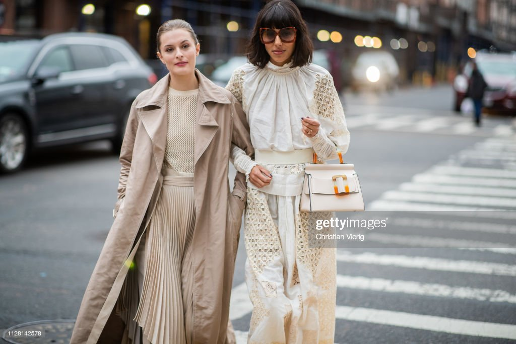Guests seen outside Ulla Johnson during New York Fashion