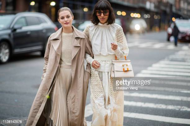 Guests seen outside Ulla Johnson during New York Fashion Week Autumn Winter 2019 on February 07 2019 in New York City