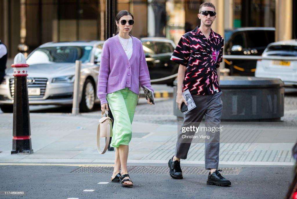 Street Style - LFW September 2019 : News Photo