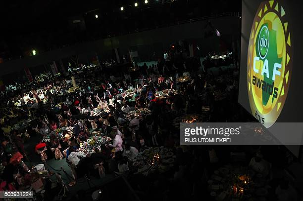 Guests sit during the African Footballer of the Year Award in Abuja on January 7 2016 Gabonese forward PierreEmerick Aubameyang has been voted the...