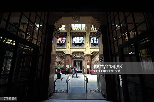 Guests stroll through the Gellert bath on August 11 in Budapest The sumptuously renovated Art Nouveau complex which includes a hotel an amenity most...