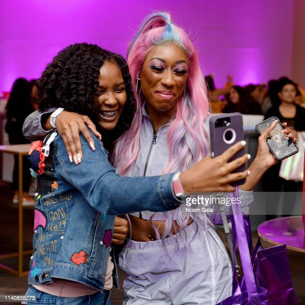 Guests take a selfie at Beautycon Festival New York 2019 at Jacob Javits Center on April 06 2019 in New York City
