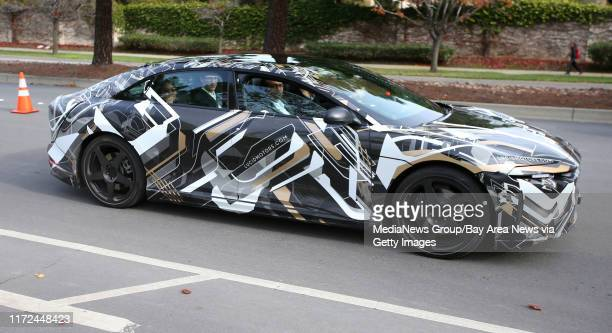Guests take a test ride in the new air electric car by Lucid Motors Inc on Wednesday Dec 14 in Fremont Calif