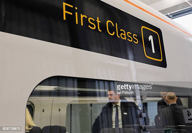 Guests take a tour of the new Intercity Express trains at the Hitachi Rail Europe site on December 9, 2016 in Newton Aycliffe, United Kingdom. The...