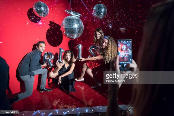 Guests take photos at The OPPO launch at Carriageworks on February 1 2018 in Sydney Australia