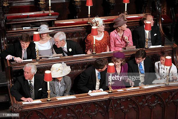 Guests take their seats at Westminster Abbey in London ahead of the Royal Wedding of Britain's Prince William and Kate Middleton on April 29 2011 AFP...