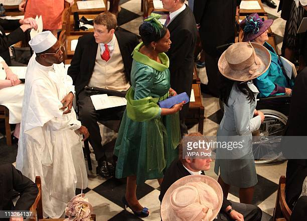 Guests take their seats in Westminster Abbey ahead of the Royal Wedding of Prince William to Catherine Middleton at Westminster Abbey on April 29...