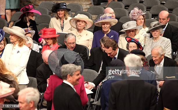 Guests takes their seats in Westminster Abbey ahead of the Royal Wedding of Britain's Prince William and Kate Middleton on April 29 2011 in London...