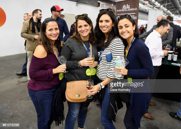 Guests taste wine at Southern Glazer's Wine Spirits of New York Trade Tasting presented by Beverage Media Group during the Food Network Cooking...