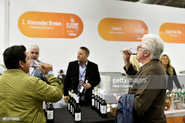Guests taste Z Alexander Brown wines at Southern Glazer's Wine Spirits of New York Trade Tasting presented by Beverage Media Group during the Food...
