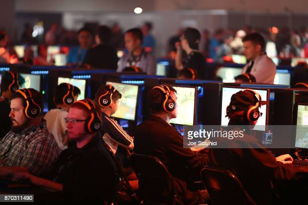 Guests test out the new World of WarCraft expansion at BlizzCon 2017 at Anaheim Convention Center on November 3 2017 in Anaheim California