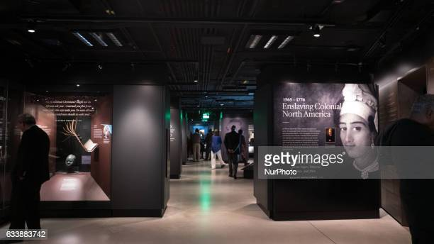 Guests tour the quotSlavery amp Freedomquot exhibit at the Smithsonian's National Museum of African American History amp Culture in Washington DC on...